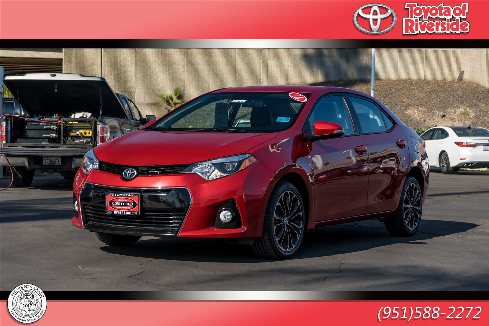 Certified Pre Owned 2016 Toyota Corolla S 4dr Car In Riverside